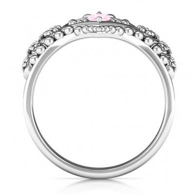 Once Upon A Time Tiara Solid White Gold Ring