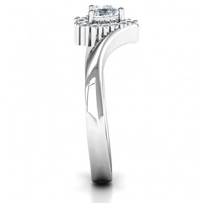 Peak of Love Solid White Gold Ring