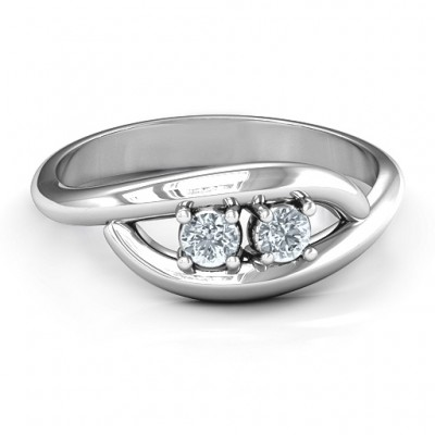 PerfeCT Pair Couple's Solid White Gold Ring
