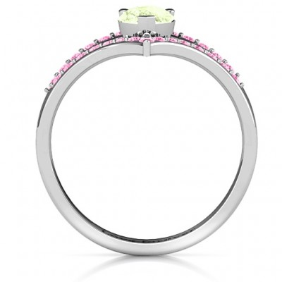 Point Of Elegance Solid White Gold Ring