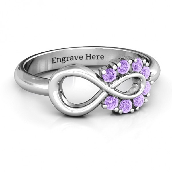 Precious Infinity Solid White Gold Ring