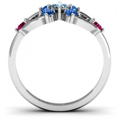 Princess Centre Infinity Solid White Gold Ring