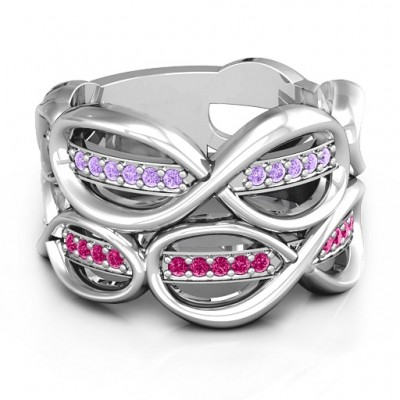 Ravishing Love Infinity Solid White Gold Ring