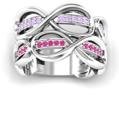 Ravishing Love Infinity Solid White Gold Ring