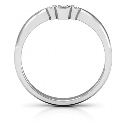 Selena Band Solid White Gold Ring