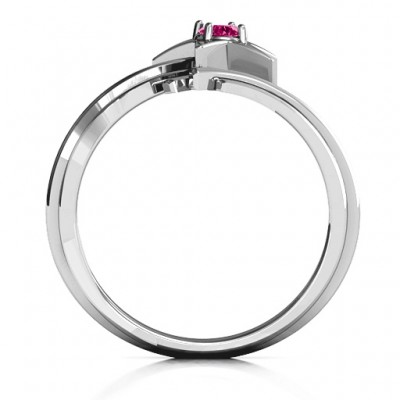Shooting Star Solid White Gold Ring