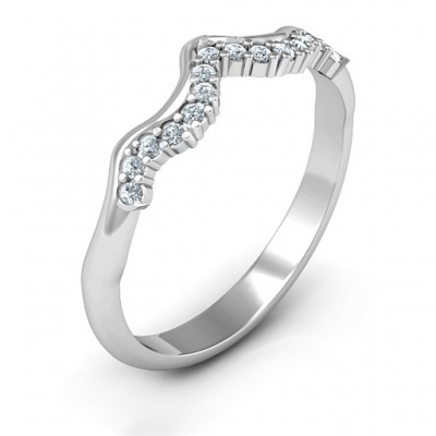 Solid Gold Solitaire Infinity Shadow Band