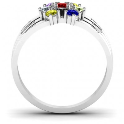 Spidra' Round Centre Solid White Gold Ring