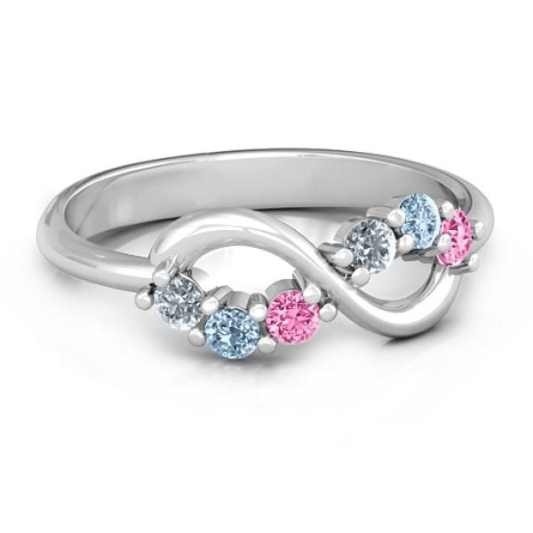 Split Infinity Solid White Gold Ring