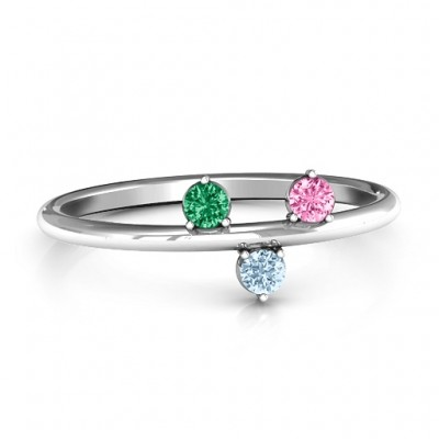 Stackable Sparkle 1-5 Stone Solid White Gold Ring