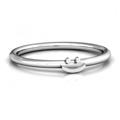 Stackr Symbol Solid White Gold Ring