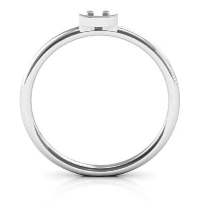 Stackr Symbol Solid White Gold Ring
