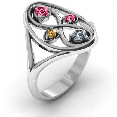 18CT White Gold Forever Love Ring