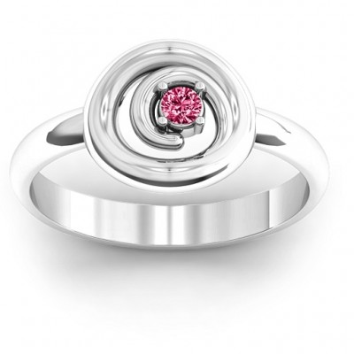 18CT White Gold Swirling Desire Ring