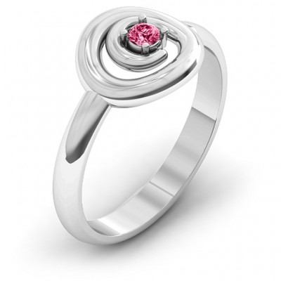 18CT White Gold Swirling Desire Ring