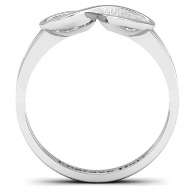 18CT White Gold Vogue Infinity Ring