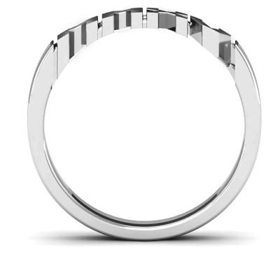 18CT White Gold 2015 Roman Numeral Graduation Ring
