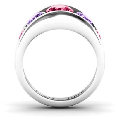 18CT White Gold 5 Stone Split Shank Ring