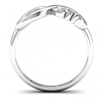 18CT White Gold BFF Friendship Infinity Ring