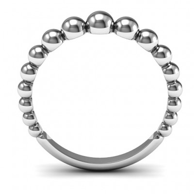 18CT White Gold Beaded Beauty Ring
