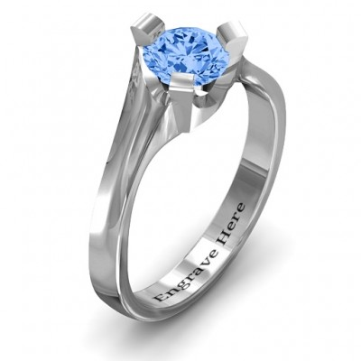 18CT White Gold Beloved Tri-Set Ring
