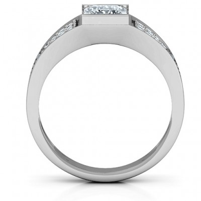 18CT White Gold Bold Love Ring
