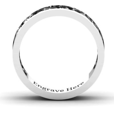18CT White Gold Celtic Wreath Men's Ring