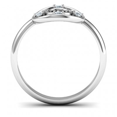 18CT White Gold Chai Filigree Ring