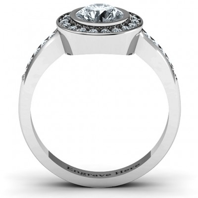 18CT White Gold Circles of Love Ring
