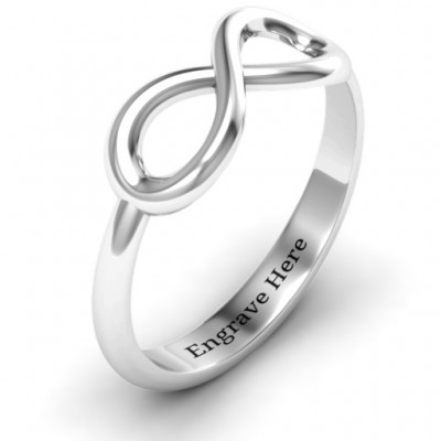 18CT White Gold Classic Infinity Ring