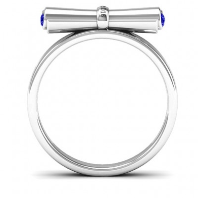 18CT White Gold Diploma Scroll Graduation Ring