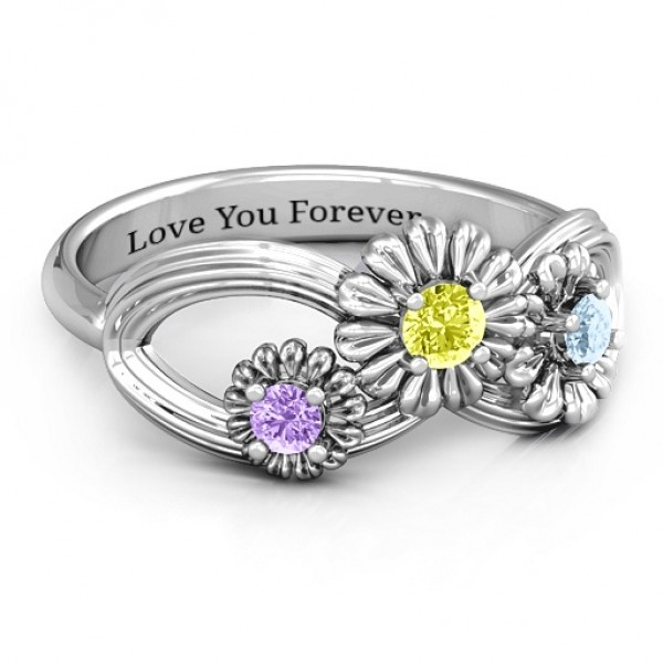 18CT White Gold Endless Spring Infinity Ring
