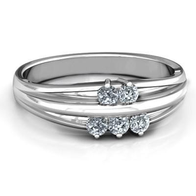 18CT White Gold Everlasting Bonds Ring