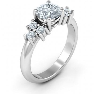 18CT White Gold Flourish Engagement Ring