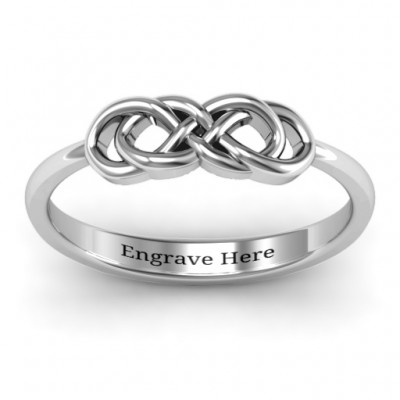 18CT White Gold Infinity Knot Ring