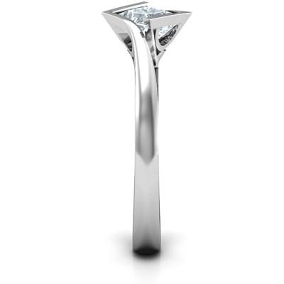 18CT White Gold Krista Princess Cut Ring