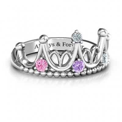 18CT White Gold Like A Dream Tiara Ring