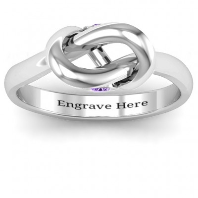18CT White Gold Modern Infinity Heart Ring