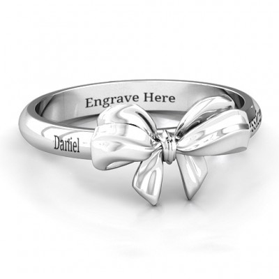 18CT White Gold Papillon Bow Ring