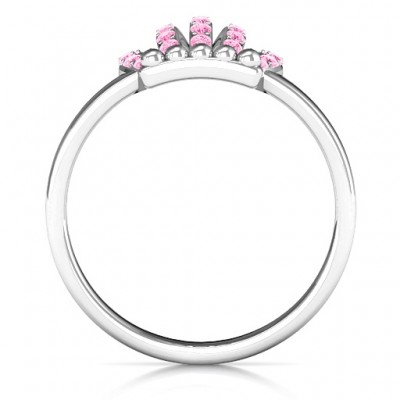 18CT White Gold Queen Of The Castle Crown Ring