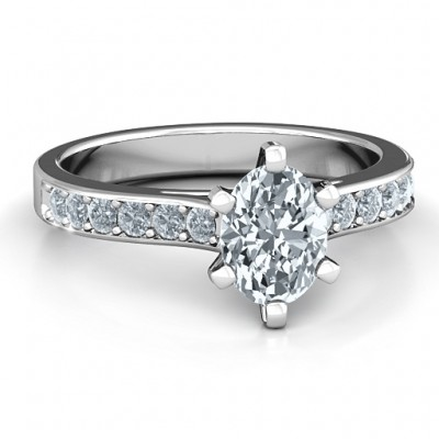 18CT White Gold Shining in Love Ring