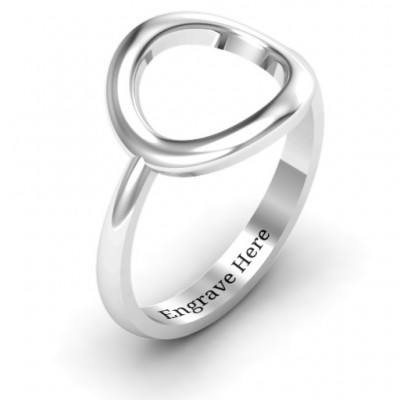 18CT White Gold Simple Circle Karma Ring