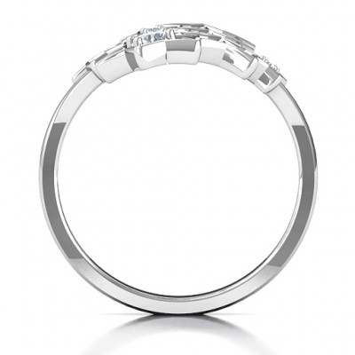 18CT White Gold Sparkling Constellation Ring