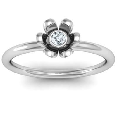 18CT White Gold Stone in 'Magnolia' Ring