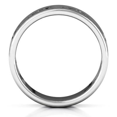 18CT White Gold Sun Salutation Pose Ring