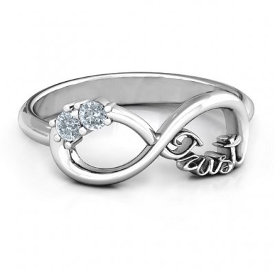 18CT White Gold Trust Infinity Ring