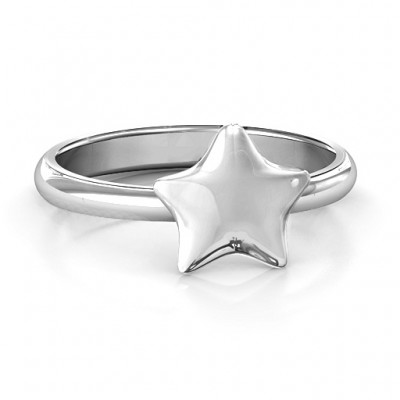 The Sweetest Star Solid White Gold Ring