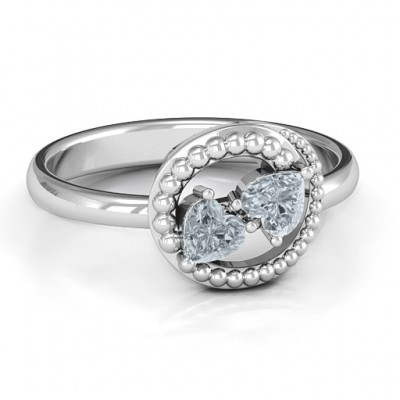 Timeless Love Solid White Gold Ring
