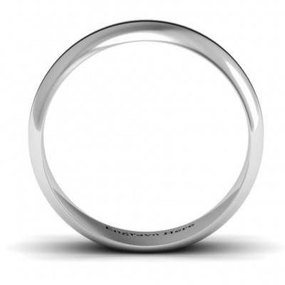 Titus Grooved Men's Solid White Gold Ring