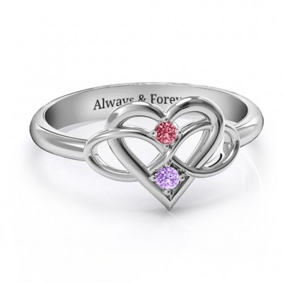 Together Forever Two-Stone Solid White Gold Ring